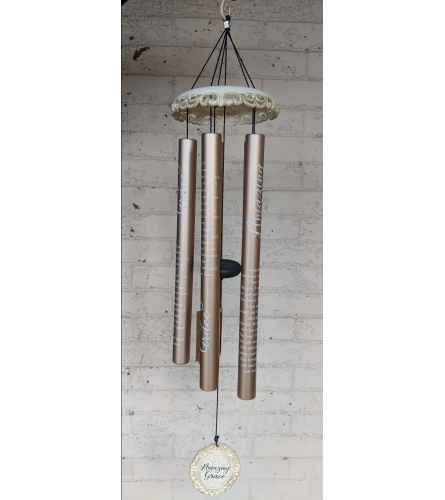 "40"" Amazing Grace, Vintage Wind Chime"
