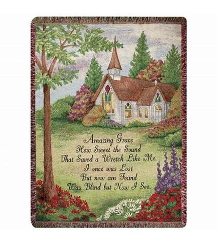 Amazing Grace Tapestry Throw 2