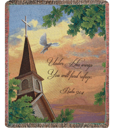 Under His Wings Tapestry Throw