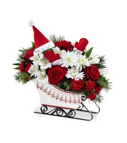The FTD® Dashing Through the Snow Arrangement