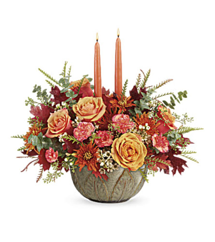 ARTISANAL AUTUMN CENTERPIECE FOR FALL
