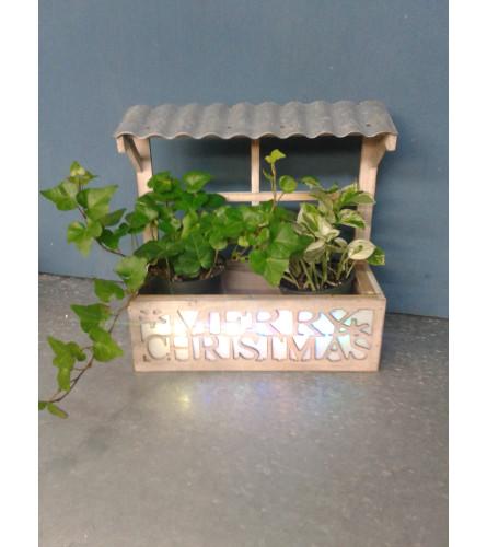 Merry Christmas Plant Holder