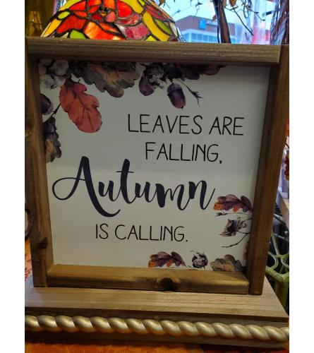 Leaves are falling plaque