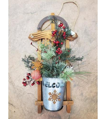 Brown Sleigh Door Hanger