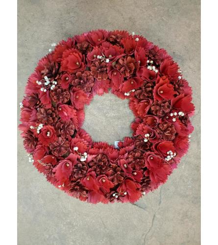 Redwood Rose Wreath