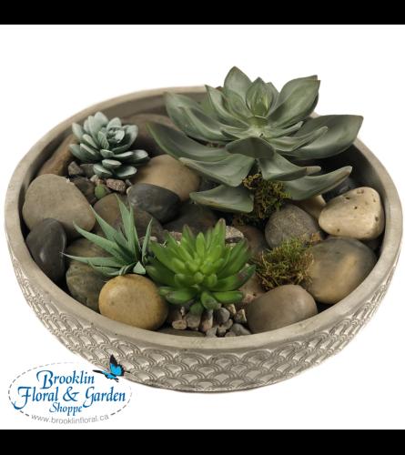Everlasting Succulent Dish Garden