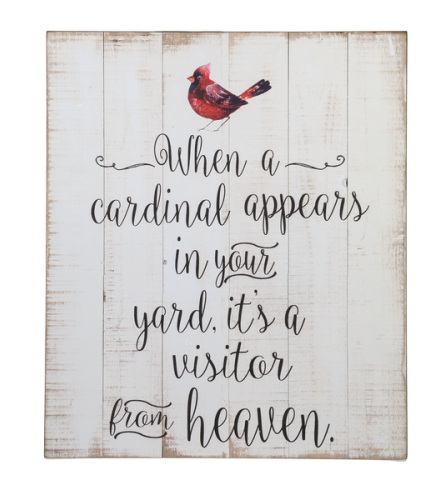 Wooden Plaque - When a Cardinal Appears