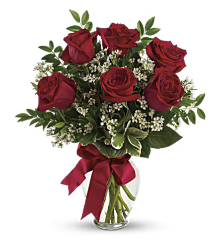 Thought of you Bouquet with Red Roses