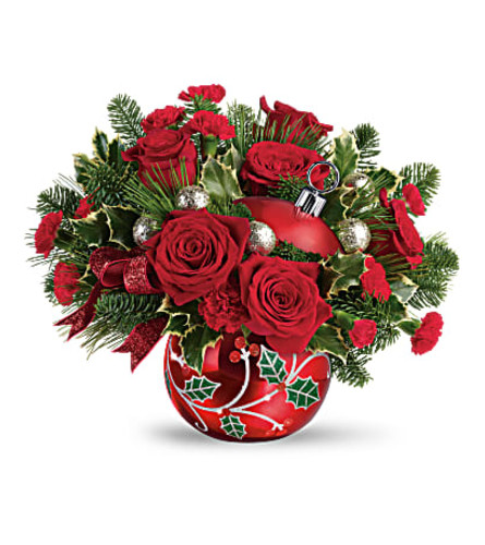 Teleflora's Deck the Holly Ornament