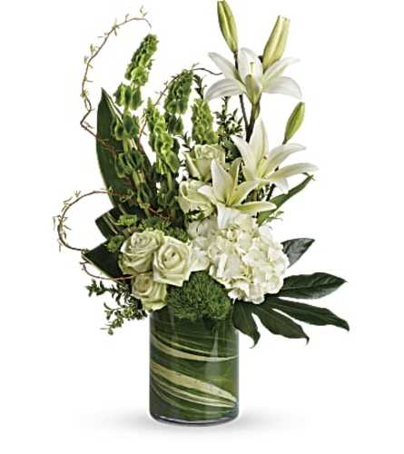 Botanical Beauty Bouquet with White Roses