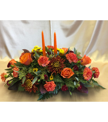 SHADES OF AUTUMN CENTERPIECE