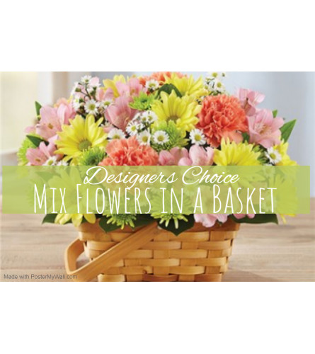 Garden Galore In A Basket Florist Design