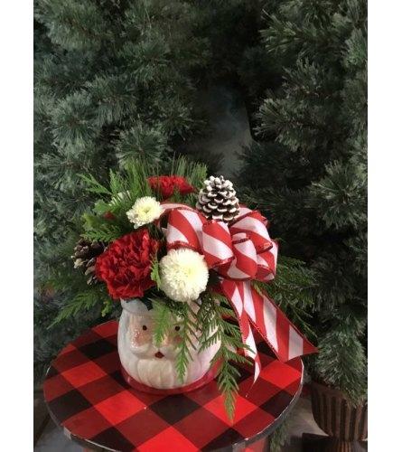Santa Mug Arrangement
