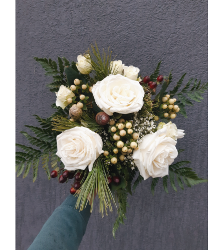 Firelight & Frost Winter Bouquet