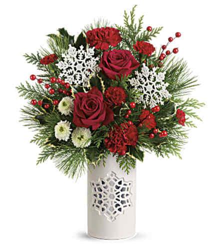 Flurry of Elegance Keepsake Vase