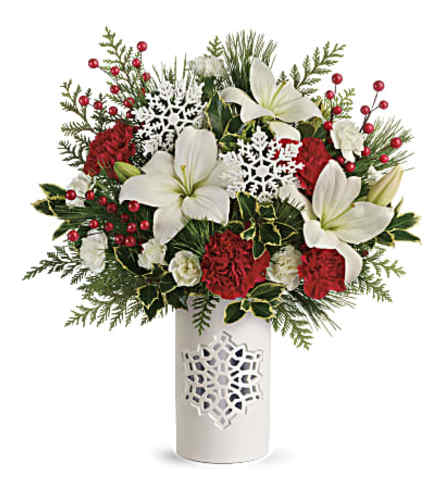 Festive Flurries Keepsake Bouquet