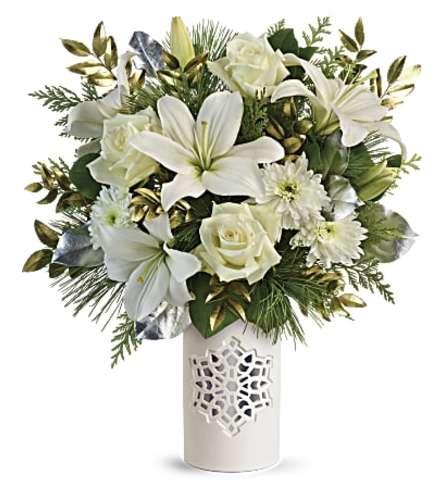 Teleflora White Snowflake Bouquet