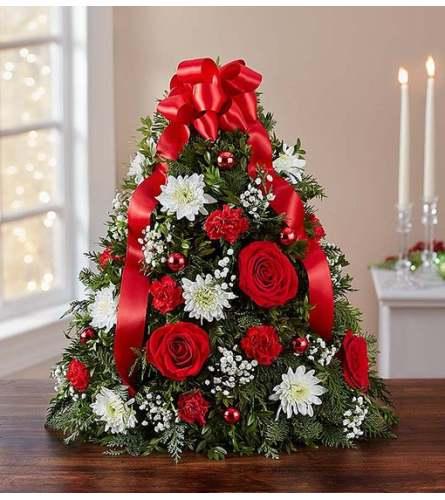 Merry Christmas Flower Tree