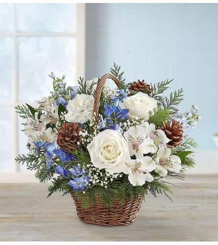 Wishing in Winter Willow Basket