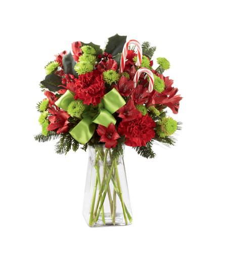 Candy Cain  Lane Christmas Vase Bouquet