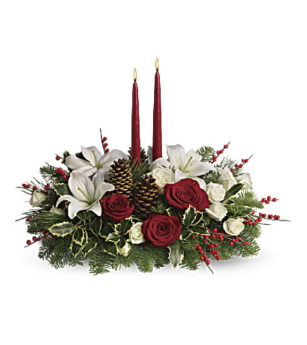 Christmas Wishes Candles Centerpiece