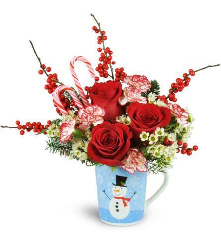 Holiday Hug in a Mug with Roses