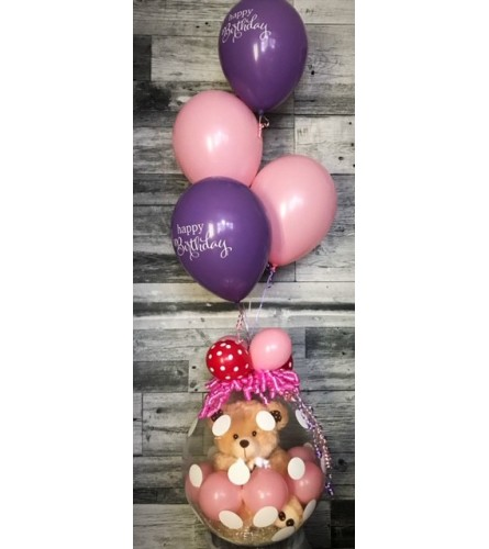 Stuffed Balloon w/ Teddy Bear