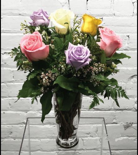 Mixed Roses-1/2 Dozen