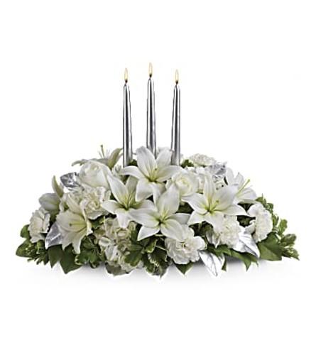 Silver Elegant Centerpiece
