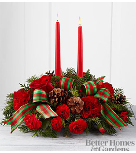Holiday Classics Two Candle Centerpiece