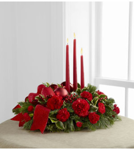 Lights Of The Season Three Candle Centerpiece