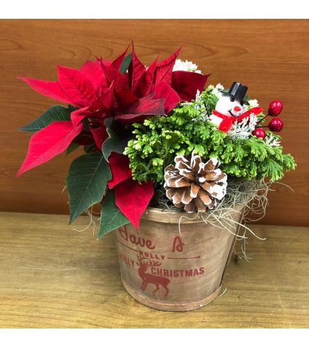 Holly Jolly Christmas Planter