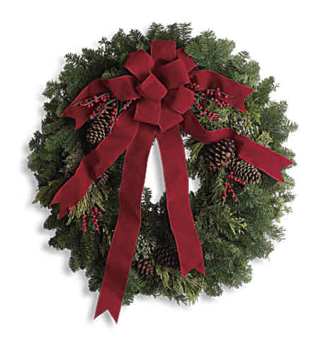 Classic Holiday Wreath - Fresh Pine
