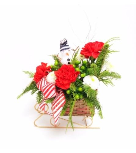 Christmas Snowman Sleigh