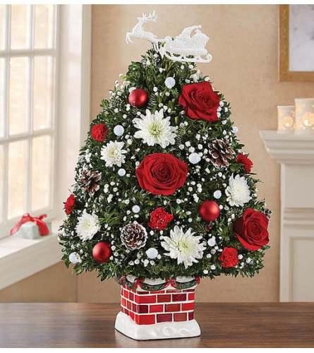 Christmas Holiday Flower Tree