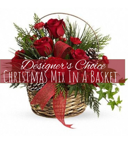 Christmas Mix In A Basket Florist Design