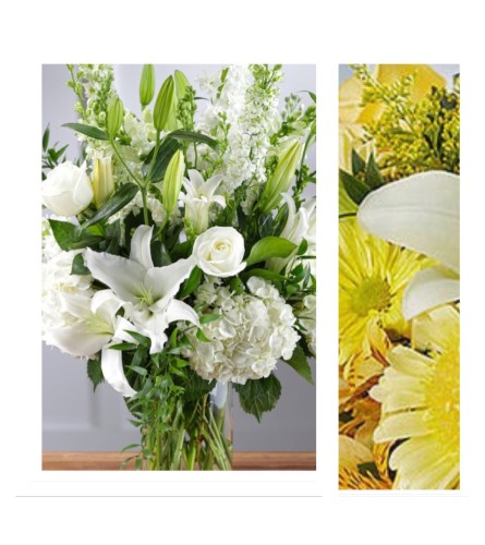 Yellow Mix-Large Vase Arrangment