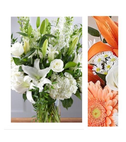 Peach/Orange Mix-Large Vase Arrangement