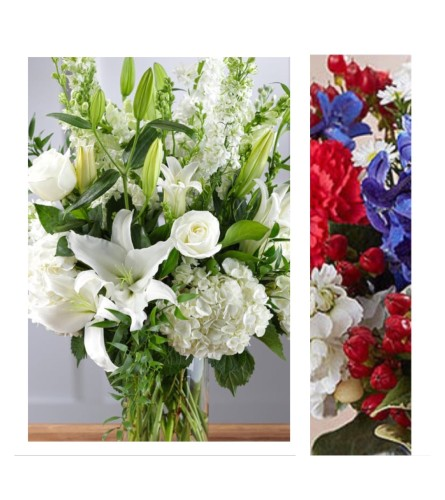 Patriotic Mix-Large Vase Arrangement