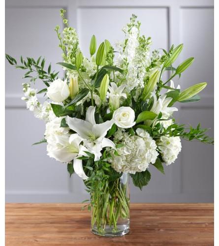 White Mix-Large Vase Arrangement
