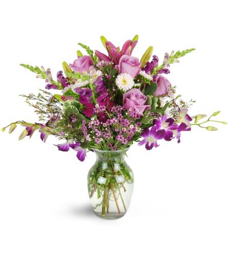 Jenning's Purple Paradise Orchid Bouquet
