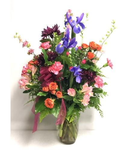 Valentine Colorful Iris Bouquet