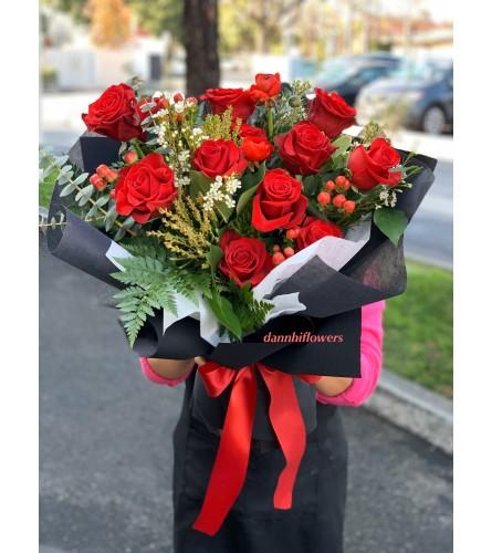 Scarlett red bouquet