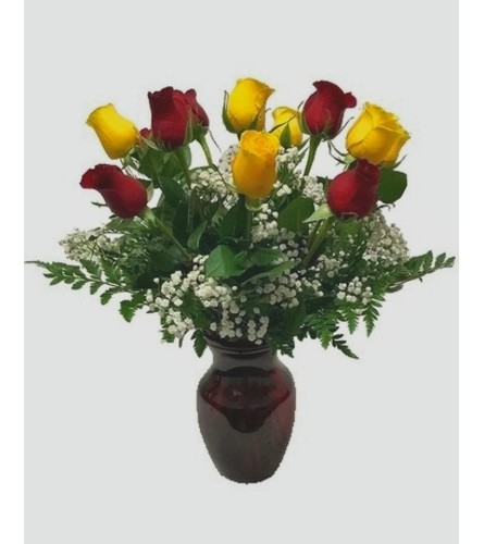 1 Dozen Roses (Red & Yellow)