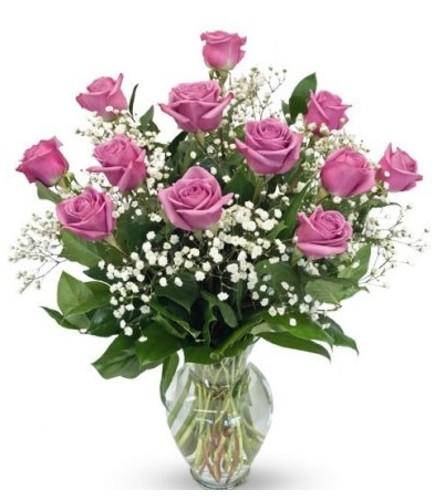 1 Dozen Lavender Roses