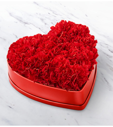 The FTD Heart felt Carnation Box