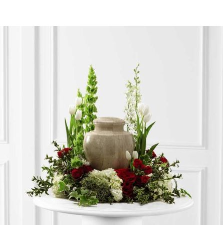ASSORTED FLOWERS IN A GARDEN DESIGN FOR ANY URN