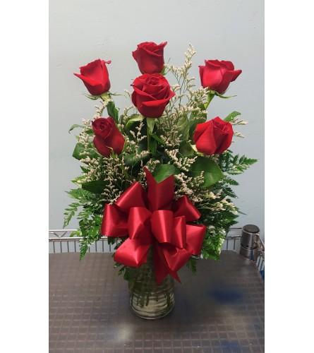 6 Premium Roses