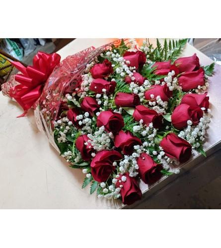 2 Dozen Wrapped Rose Bouquet