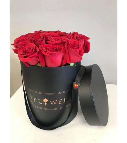 Luxury Red Rose Hat Box